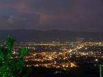 Il panorama dall'oasi: Pistoia (sx) Quarrata Prato (dx)