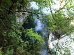 Grotte di Oliero vista dal sentiero