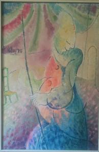 Donna incinta che prova un'emozione (1974)