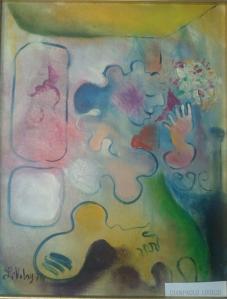 Donna con fiori che arrosisce (1975)