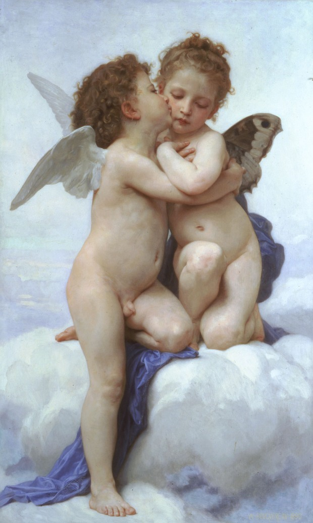 William-Adolphe Bouguereau - Il primo bacio