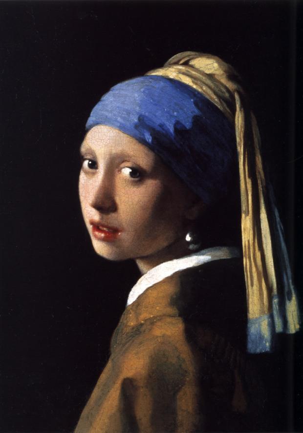 Johannes Vermeer (1632-1675) - La ragazza col turbante o La ragazza con l'orecchino di perla (1665)