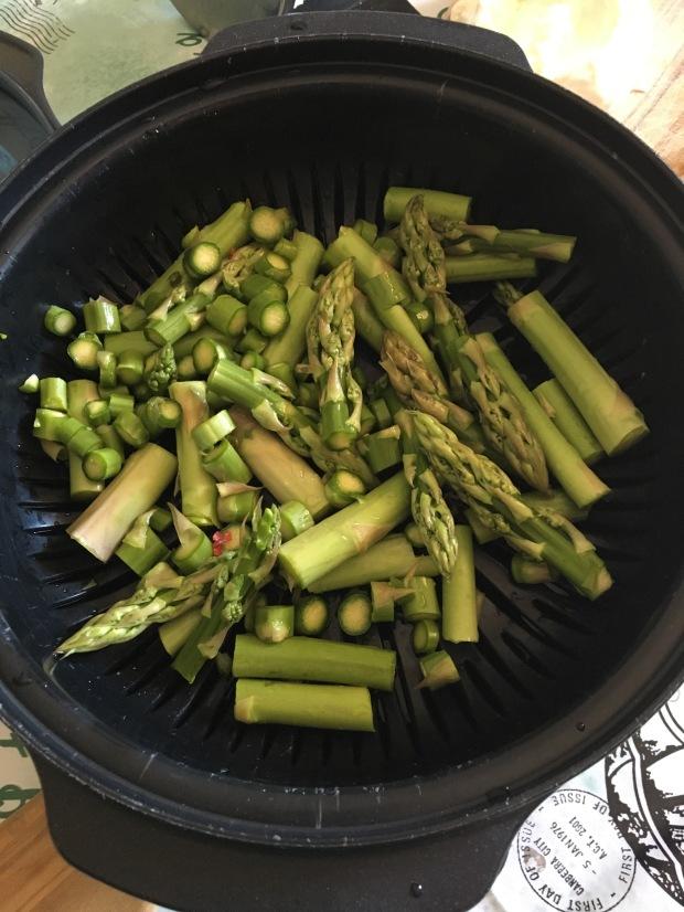 taglio degli asparagi